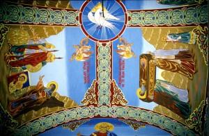 """Тавана на храм """"Св. Иван Рилски """"- Панагюрски колонии"""
